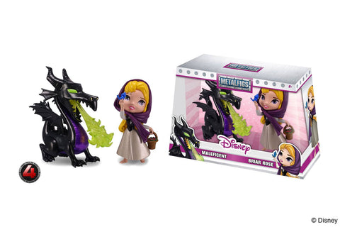DISNEY METALFIGS DIECAST MINI FIGURES 2-PACK MALEFICENT & BRIAR ROSE