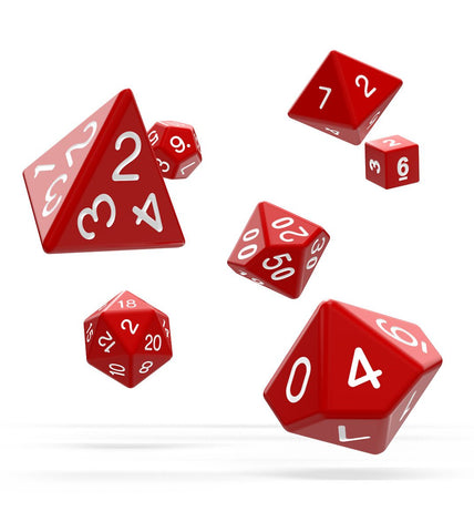 OAKIE DOAKIE DICE RPG SET SOLID - RED