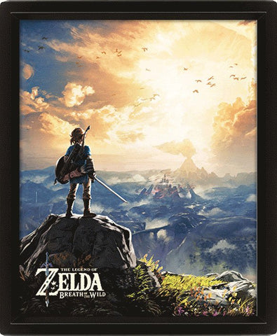 QUADRO 3D - LEGEND OF ZELDA BREATH OF THE WILD