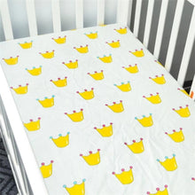 Load image into Gallery viewer, 100% Cotton Crib Fitted Sheet Soft Breathable Baby Bed Mattress Cover Protector  Cartoon Newborn Bedding For Cot Size 130*70cm