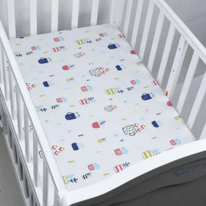 100% Cotton Crib Fitted Sheet Soft Breathable Baby Bed Mattress Cover Protector  Cartoon Newborn Bedding For Cot Size 130*70cm