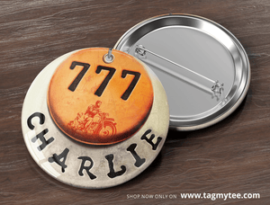 777 Charlie Badges (Pack of 4) - TagMyTee - Badges