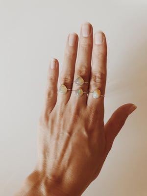 Ethiopian Opal Galaxy Stacking Ring