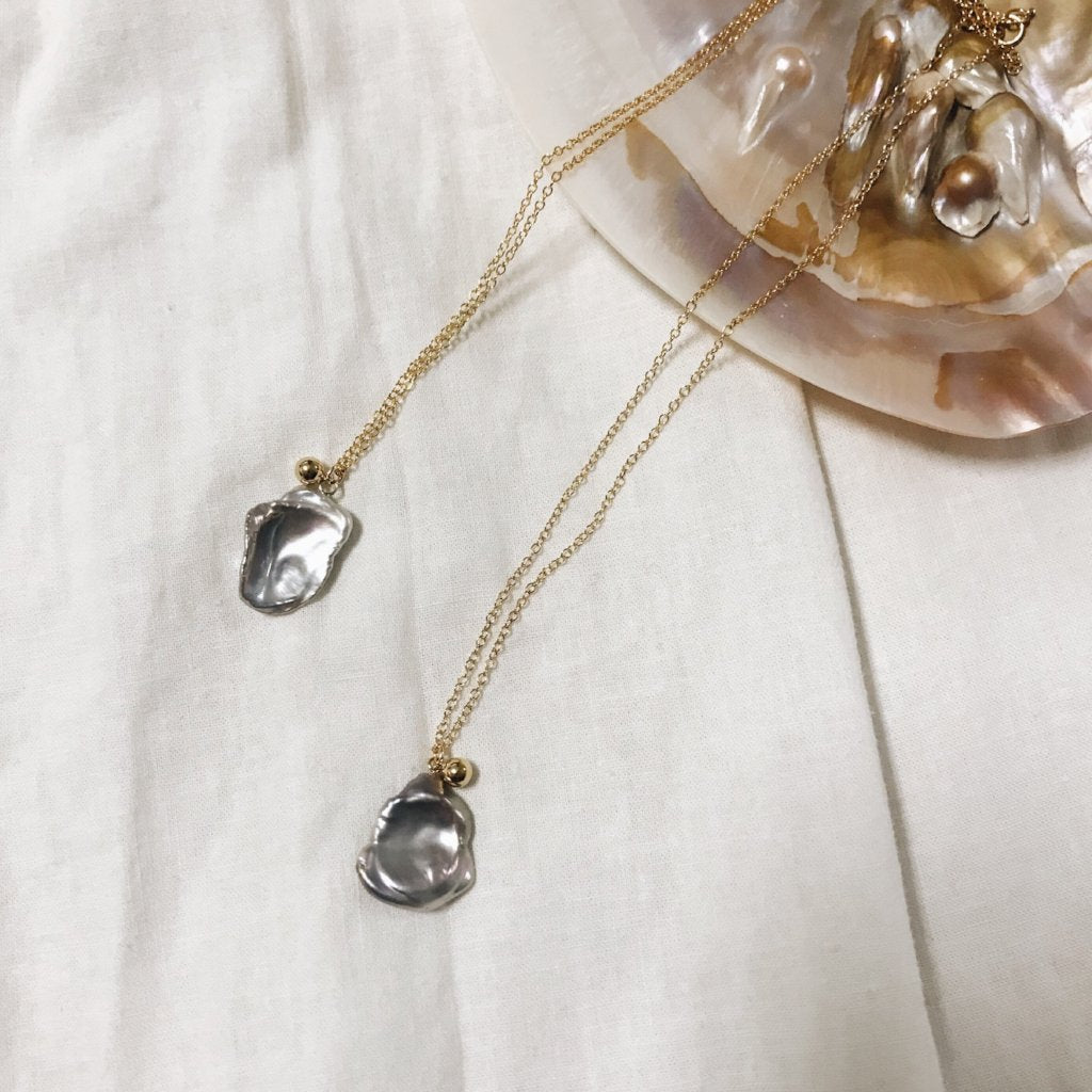 Keshi Gray Pearl Necklace