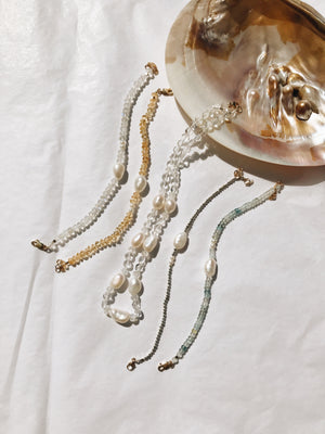 Gem Pearl Candy Necklace