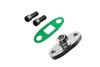 "PitVisit -10AN Fitting Turbo Oil Flange Adapter Kit with Gasket and Bolts (.4740"" Outlet)"
