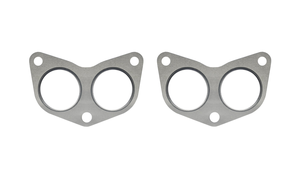 PitVisit Exhaust Manifold to Cylinder Head Gasket Compatible with Subaru WRX STI LGT FXT Multi-Layer Steel with Stainless Steel Fire-Rings (Pair)