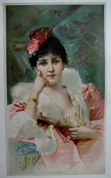 1890's At The Opera Victorian Parlor Print Vintage Poster
