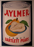 1940's Aylmer Art Deco Pears Original Vintage Food Fruit Poster