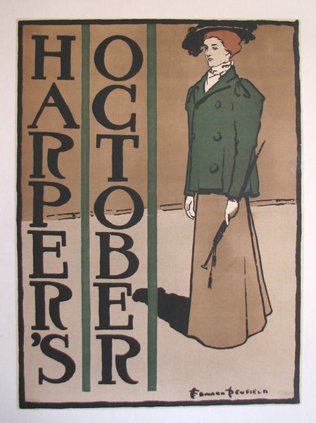1897 Harper's Edward Penfield Vintage Fashion Literary Poster
