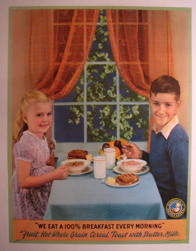 1940's Maltex Vintage Cereal Vintage Advertising Poster
