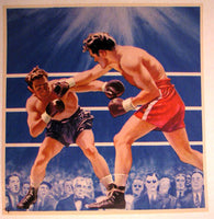 1940's Gus Lesnevich & Freddie Mills Vintage Boxing Poster Print Small
