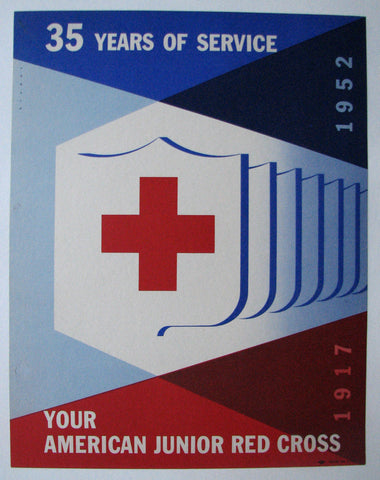 1952 Original Joseph Binder Jr. Red Cross Vintage Poster