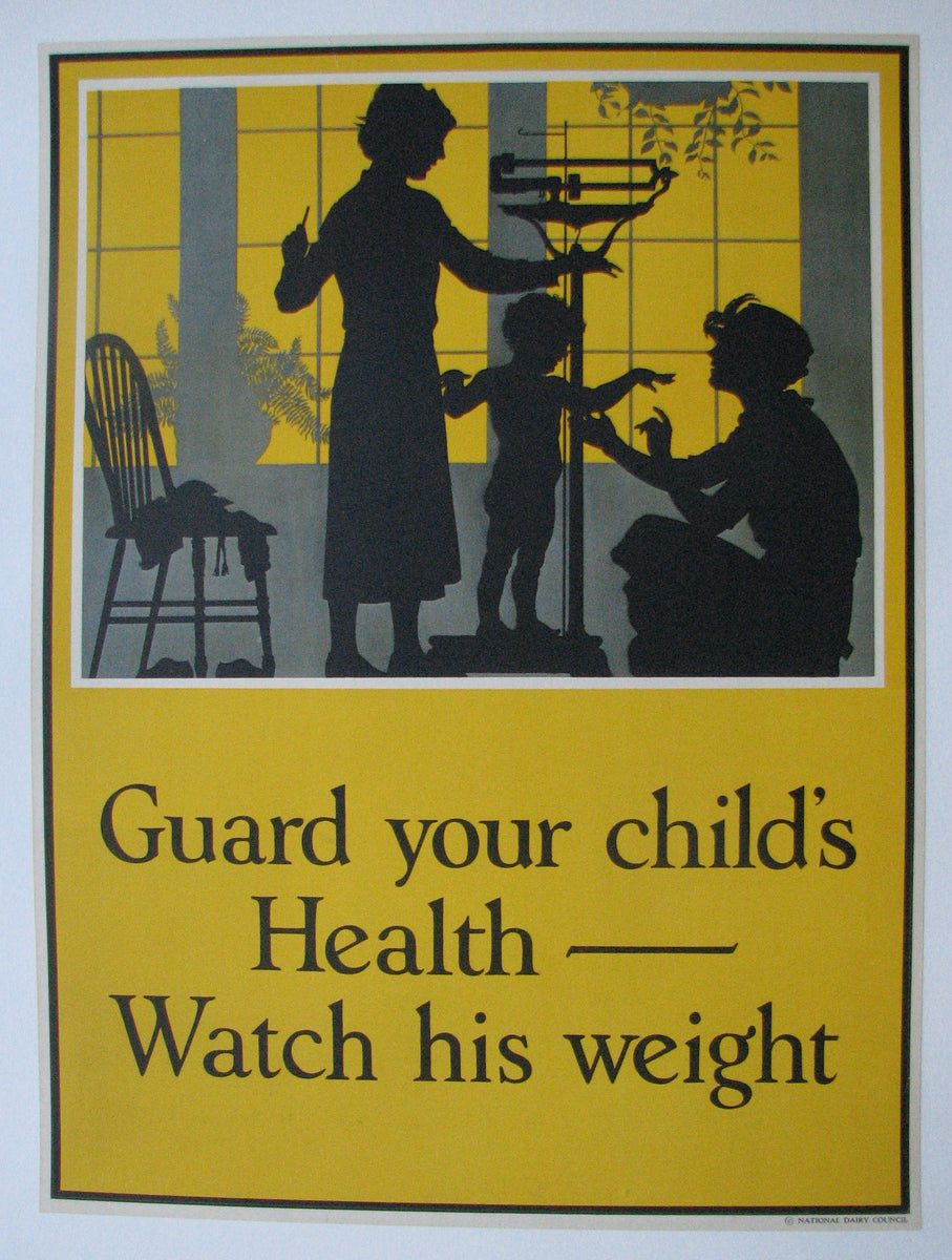 1920's 'Guard Your Children's Weight' Dairy Advertising ...