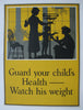 1920's 'Guard Your Children's Weight' Vintage Dairy Advertising Poster