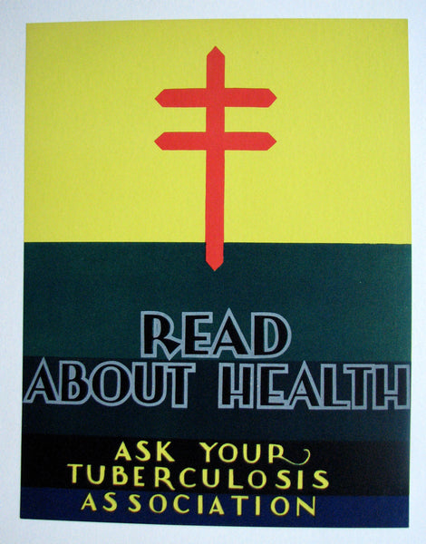 1930's Art Deco Read About Health Tuberculosis TB WPA Era