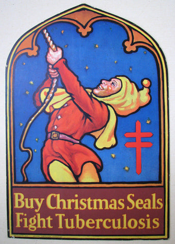 1929 Christmas Seals TB Original Tuberculosis Vintage Health Sign