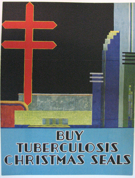 1930's TB Tuberculosis WPA Era Health Christmas Seals Medical Poster