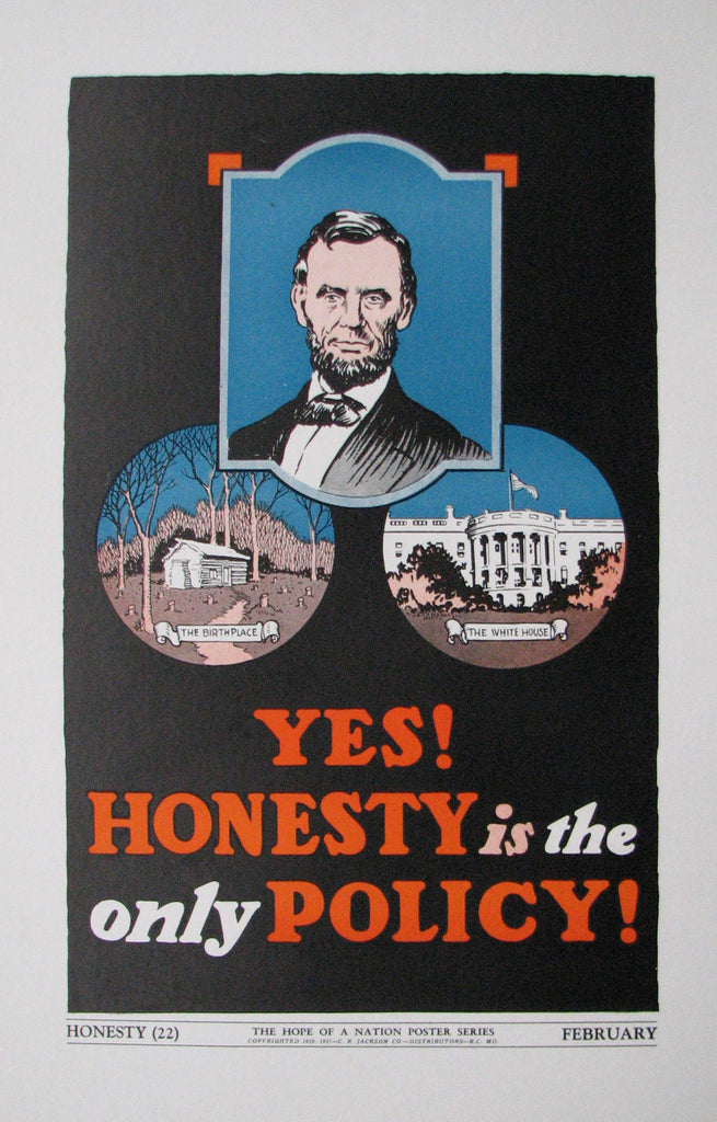 1937 Hope of a Nation Abraham Lincoln WPA era Vintage Poster