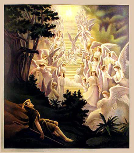 1906 Angels Rejoicing Vintage American Bible Poster