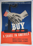 1941 Buy a Share Photomontage WW2 Poster by John Atherton