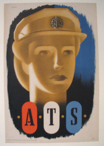 1943 Abram Games WW2 British Women's ATS Vintage Poster