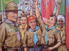 1930's British Baden Powell Boy Scout Jamboree Vintage Children's Poster