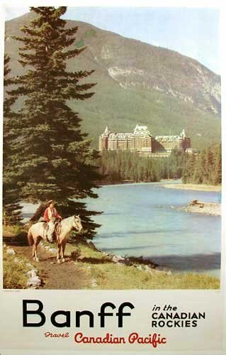 1940's Canadian Pacific Vintage Banff Travel Poster