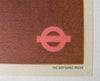 1949 Vintage Lewin Bassingthwaighte British Rail Poster London Underground Antique Original