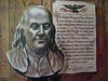 1946 John Atherton Benjamin Franklin Saturday Eve Post Poster Original Vintage