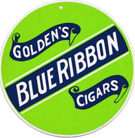 1950's Blue Ribbon Cigars 2 sided Round Advertising Sign York PA
