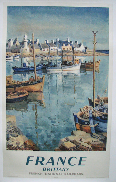 1951 Brittany France Vintage French Rail Travel Poster