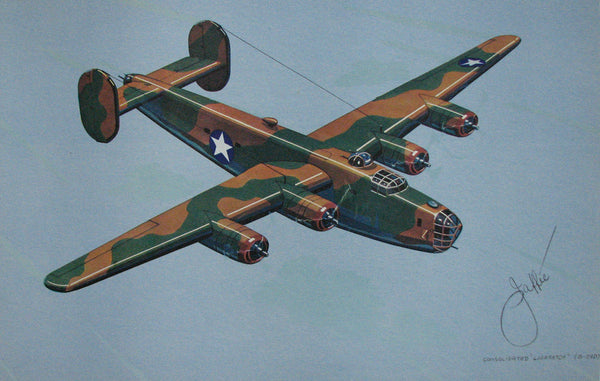 1940's Vintage WW2 Jaffee Consolidated Liberator B-24 Airplane Poster