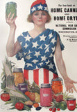 1918 WWI Win the Next War Now War Gardens Vintage Food Poster