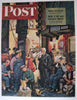 "1946 Stevan Dohanos ""Backstage at the Met"" Saturday Eve Post Original Vintage Antique Poster"
