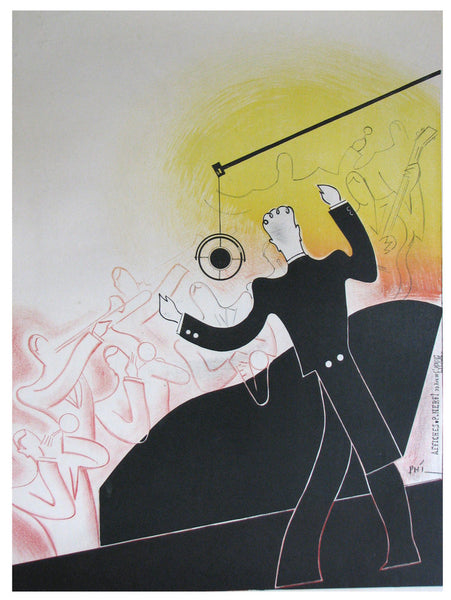 1930's French Orchestra Conductor Vintage Poster