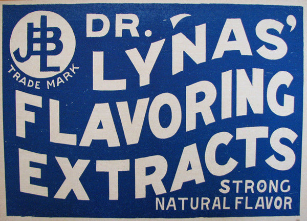 1920's Dr. James Lynas Vintage Extract Medical Poster Sign Indiana