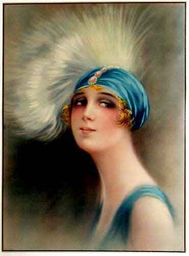 1920's Art Deco Flapper Girl Vintage Fashion Poster Print