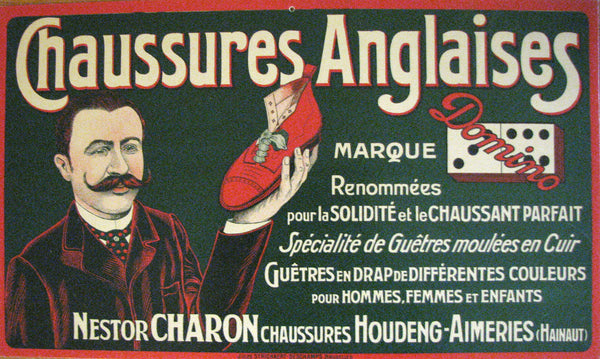 1900 Brussels Belgium Shoe Poster Nestor Charon Shop for English Shoes