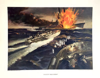 1943 WWII WW2 ELCO Electric Boat Giant Killers PT Boat Torpedo Poster