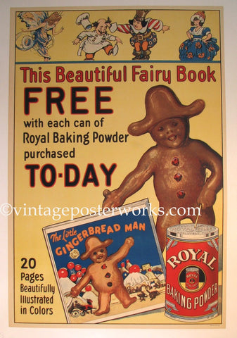 1920's Royal Baking Powder Original Vintage Food Poster