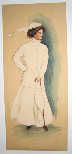 1908 Vintage Women's College Poster by Alice Luella Fidler