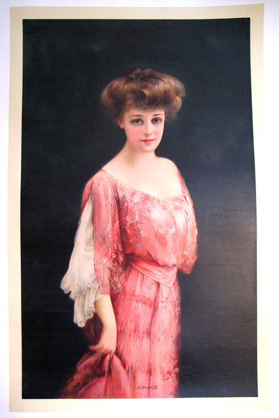"1905 ""Grace"" Antique Victorian Forbes Litho Vintage Poster Print"