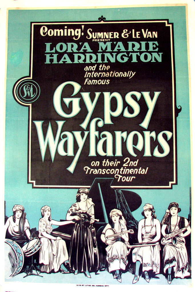 1920's Gypsy Wayfarers Vintage Girl Band Jazz Music Poster