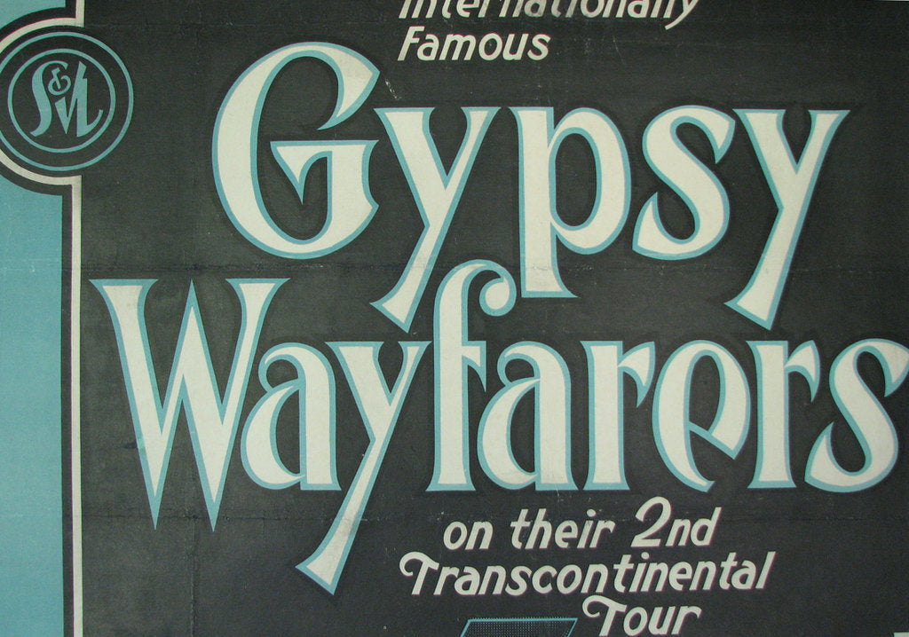 1920s gypsy wayfarers vintage girl band jazz music poster