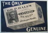 1890's Dr. P. Hall's Antique Patent Medicine Vintage Poster Sign
