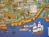 1927 Honolulu Hawaii Decorative Vintage Antique Map Poster by A.S. Macleod