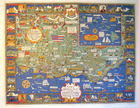 1927 Honolulu Hawaii Vintage Poster Map by A.S. Macleod, artist