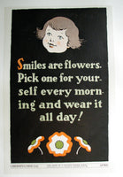 1937 Hope of a Nation Smiles are Flowers WPA era Vintage Poster