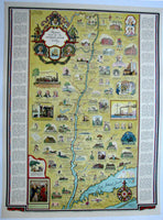 1939 George Annand Hudson River Valley Vintage NY Poster Map